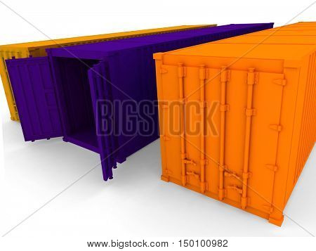 Open and closed cargo containers