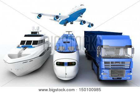 Transport. 3d render illustration