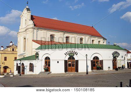 Minsk, Belarus - September 12, 2016: Beer restaurant