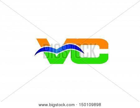 Letter V and C logo vector design vector template