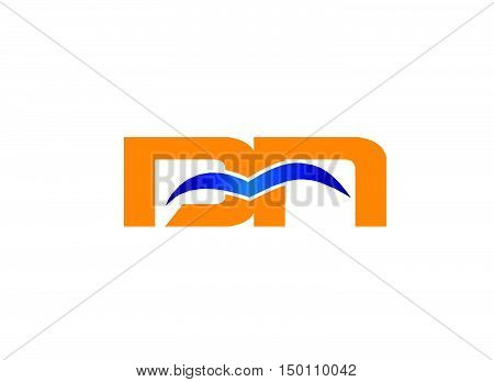 DN company linked letter logo design vector template