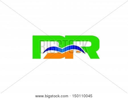 DR company linked letter logo design vector template
