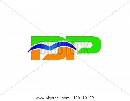 DP company linked letter logo design template