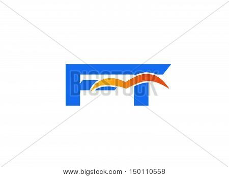 FT initial company logo design vector template