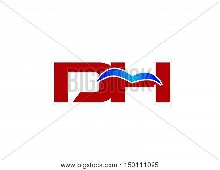 D and H logo vector design vector template