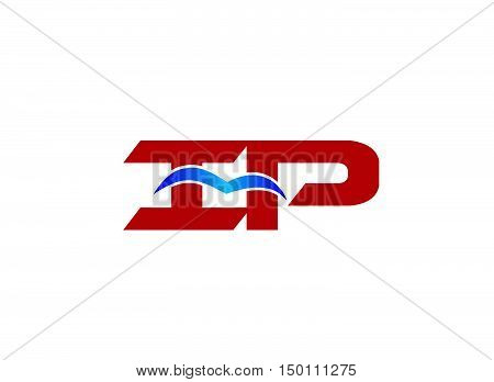 iP company logo. iP company logo vector design
