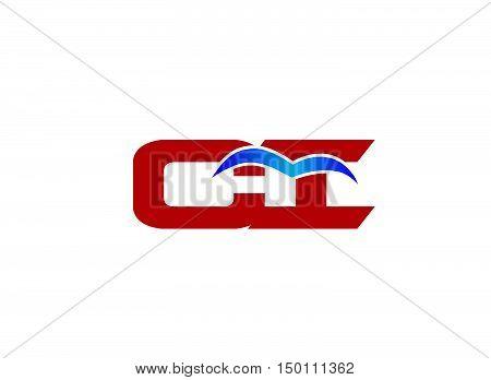 CI company linked letter logo vector design