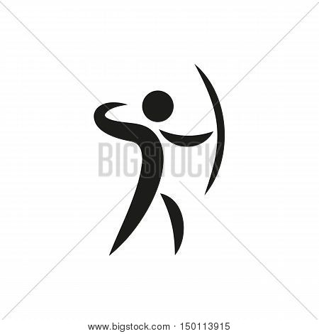 Sports icon of archery Created For Mobile Web Decor Print Products Applications. Black icon set isolated on white background. Vector illustration.