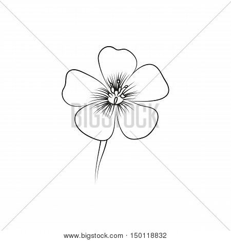 wildflowers lined minimal Icon Created For Mobile Web And Applications. Simple black icon isolated on white background. Vector illustration.