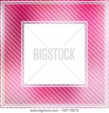 Abstract striped border with pink bright spots.