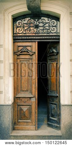 Traditional Beautiful Wooden Old Door