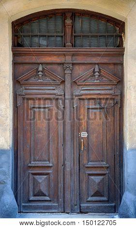 Old Brown Wooden Door