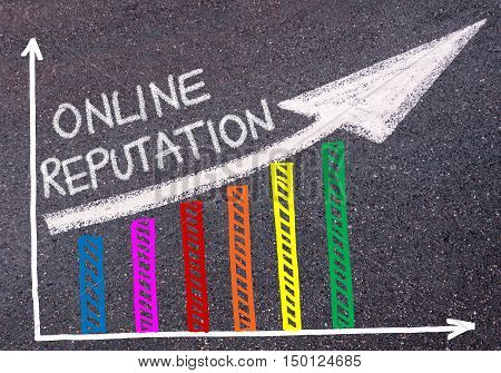 Online Reputation Written Over Colorful Graph And Rising Arrow