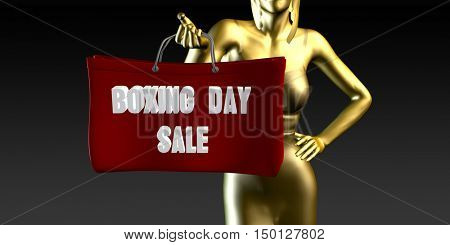 Boxing Day Sale or Sales as a Special Event 3D Render