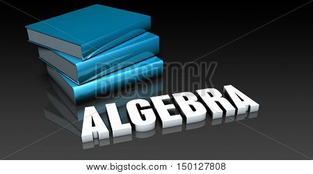 Algebra Class for School Education as Concept 3D Render