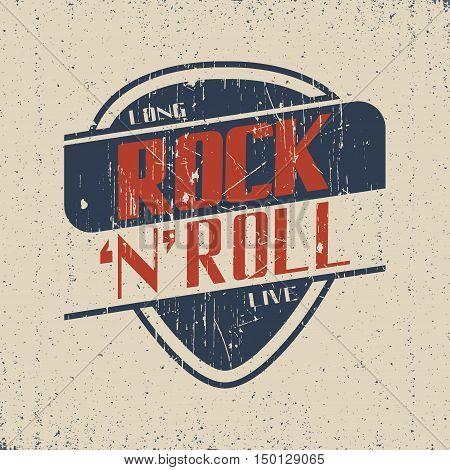 Grunge t-shirt graphic design grange print stamp rock 'n' roll creative design Vector