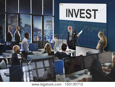 Stock Exchange Marketing Business Economics Concept