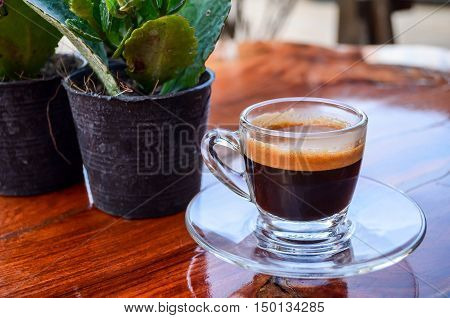 coffee black green drink indoor breezy table