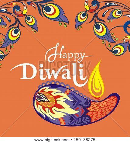 Diwali graphic design for Diwali festival celebration
