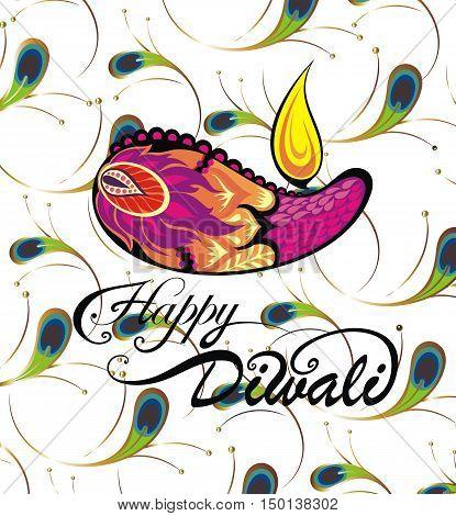 Diwali graphic design for Diwali festival celebration in India