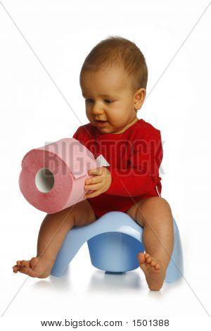 Small Boy On Chamberpot