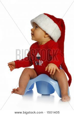 Baby In Santa Claus Cap