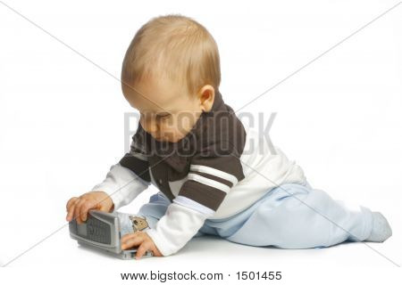 Baby Interested A Calculator