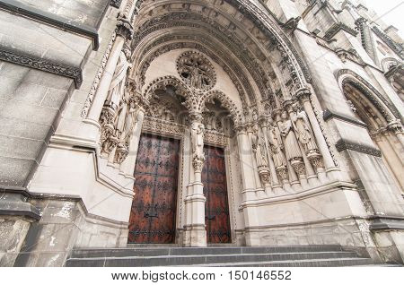Red Cathedral Door Entrance
