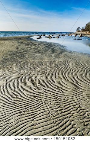 Low tide on the coast of the Baltic Sea