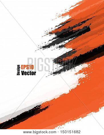 Scratch  Sketch orange Grunge Dirt Overlay Texture, Grungy Effect . Vector Background, Elements for Your Design. Eps10