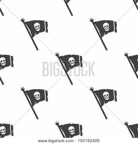 pirate flag icon on white background for web