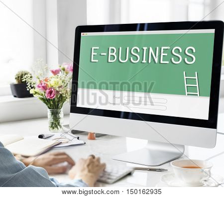 E-Business Online Banking Accounting Financial Concept