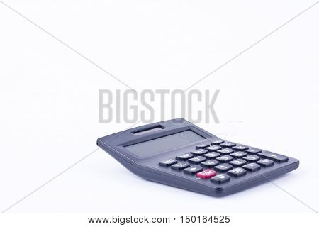 calculator for calculating the numbers accounting accountancy business calculation  on white background  isolated