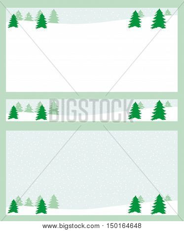 Collection of Winter Background Christmas Patter and other typography flyer template Poster card label banner design set Vector illustration EPS8 A set of three rectangular winter backgrounds