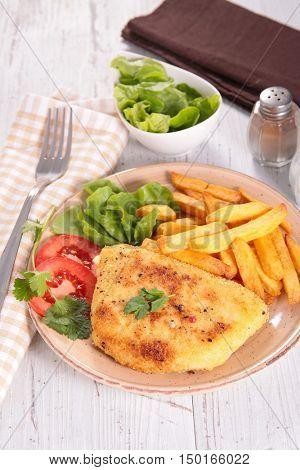 fried chicken, cordon bleu