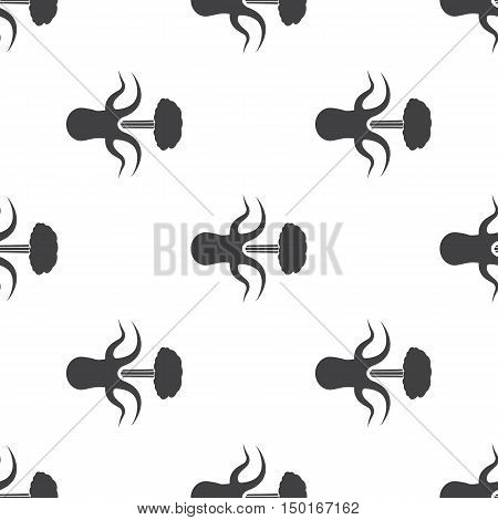 octopus icon on white background for web