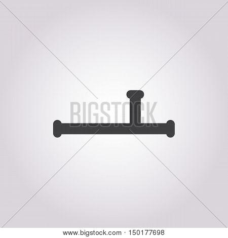 baton police icon on white background for web