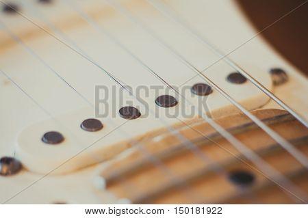 Electric Guitar Pick Up Detail, Music Symbol