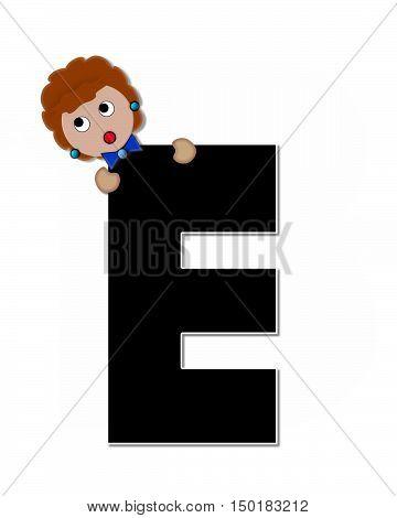 Alphabet Children Expressions E