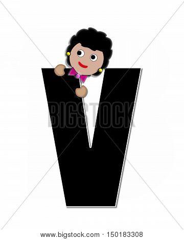 Alphabet Children Expressions V