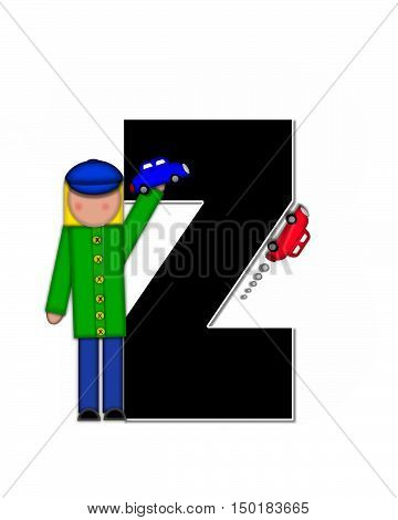 Alphabet Children Automobiles Z