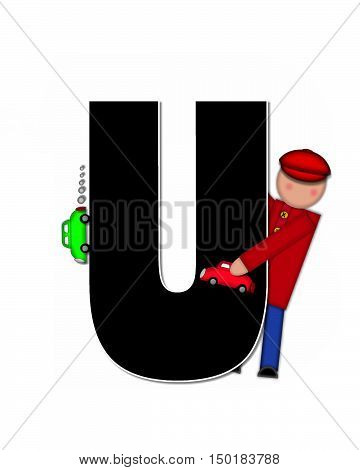Alphabet Children Automobiles U