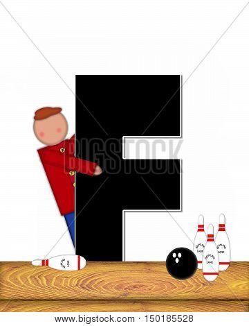 Alphabet Children Bowling Lane F