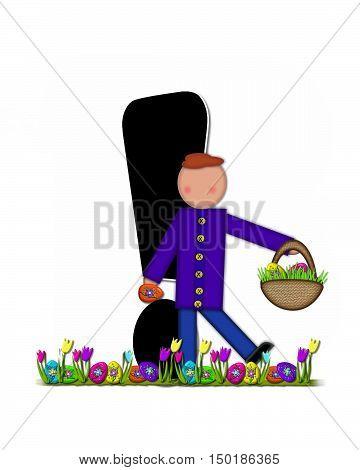 Alphabet Children Easter Egg Hunt Exclamation