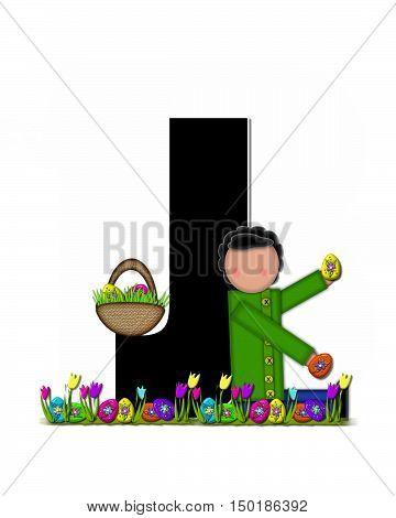 Alphabet Children Easter Egg Hunt J