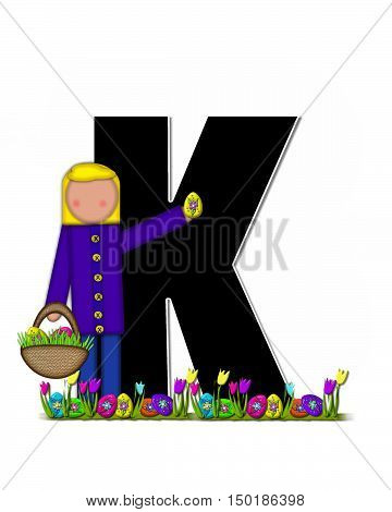Alphabet Children Easter Egg Hunt K