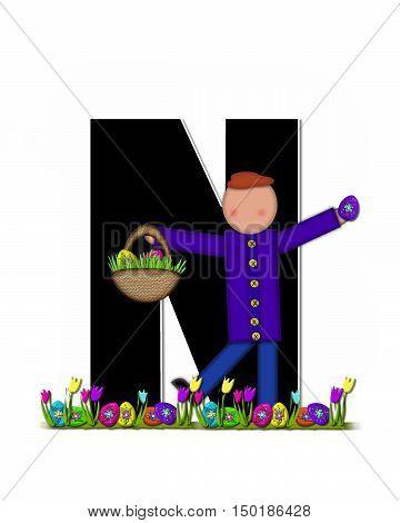 Alphabet Children Easter Egg Hunt N