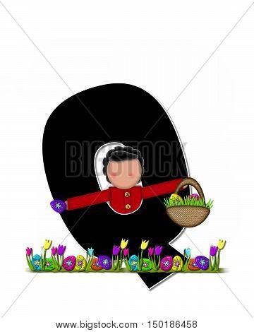 Alphabet Children Easter Egg Hunt Q