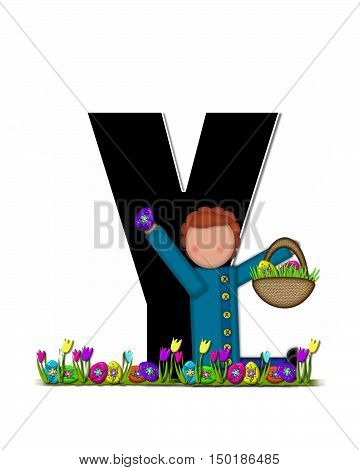 Alphabet Children Easter Egg Hunt Y