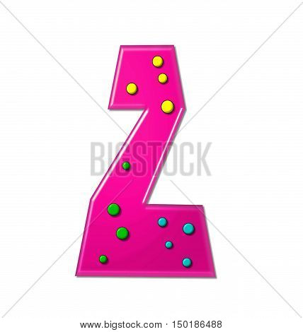 Alphabet Polka Dot Party Z